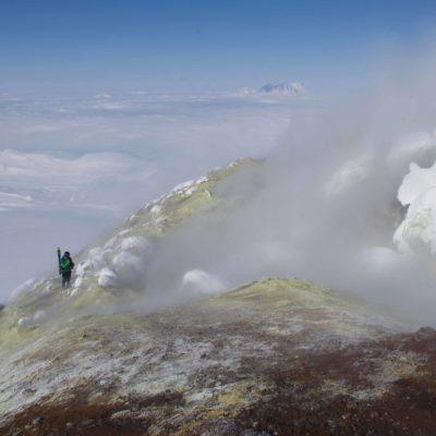 Cratère actif - Volcan Avatcha